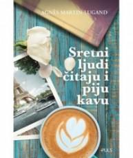 Sretni ljudi čitaju i piju kavu